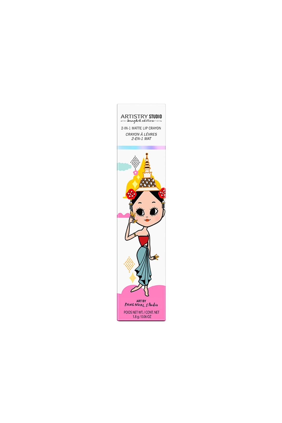 2'si 1 Arada Mat Dudak Kalemi ARTISTRY STUDIO™ Bangkok Edition Rose Goddess