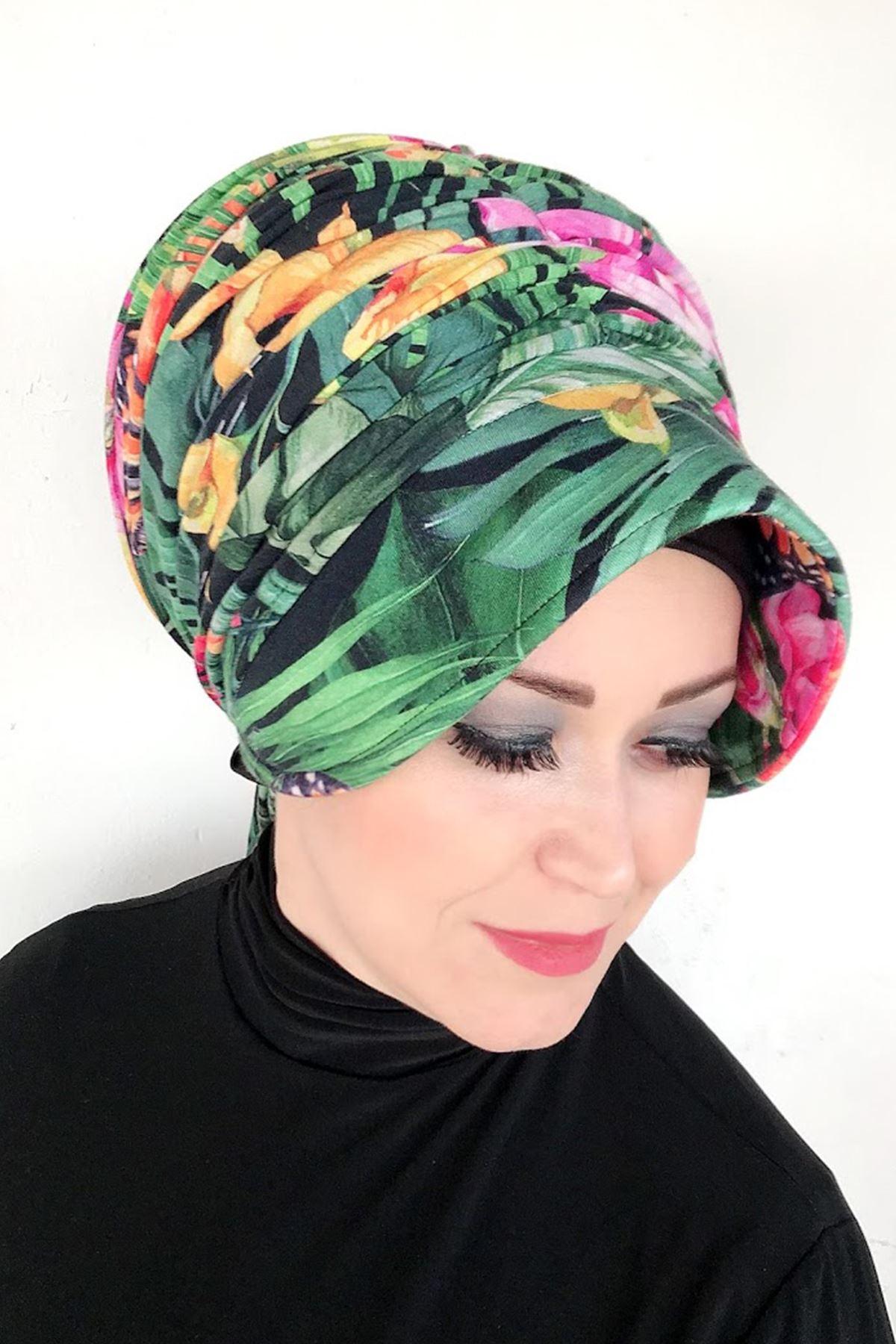 Bahar Desenli Deniz Şapkası