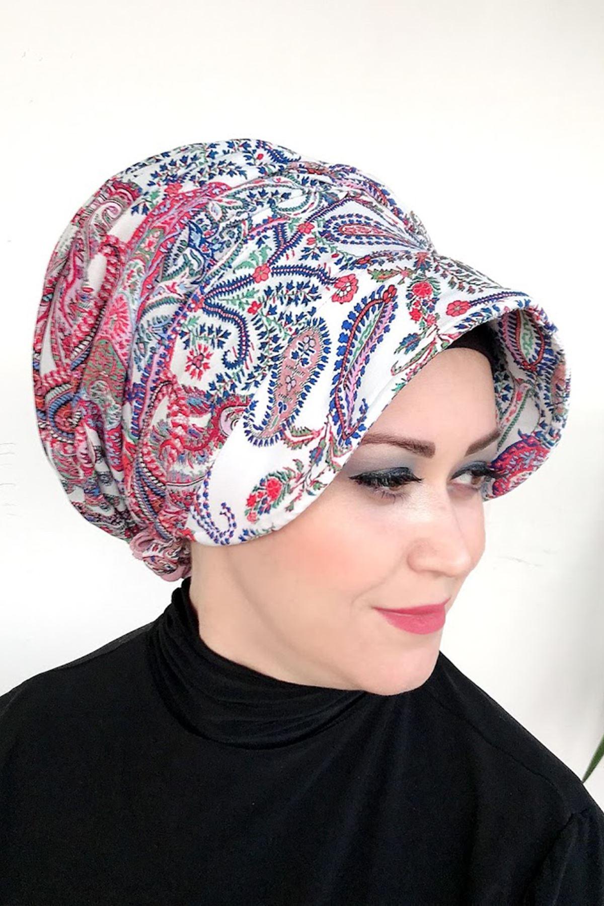 Etnik Desenli Deniz Şapkası