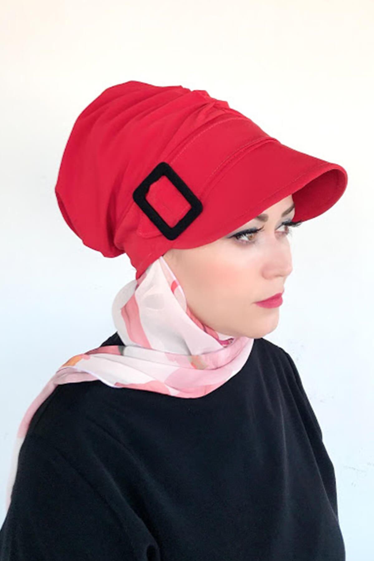 Şeker Detaylı Tokalı Pembe Şapka