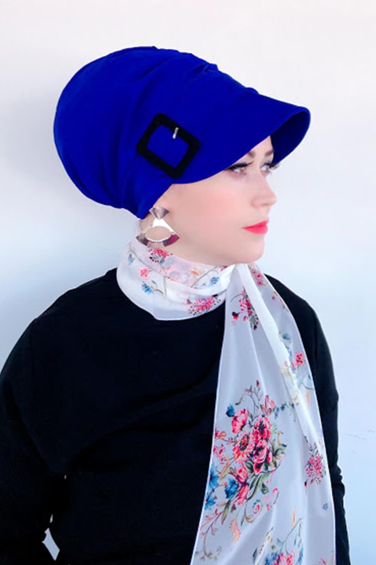 Parlament Mavi Tokalı Şapka