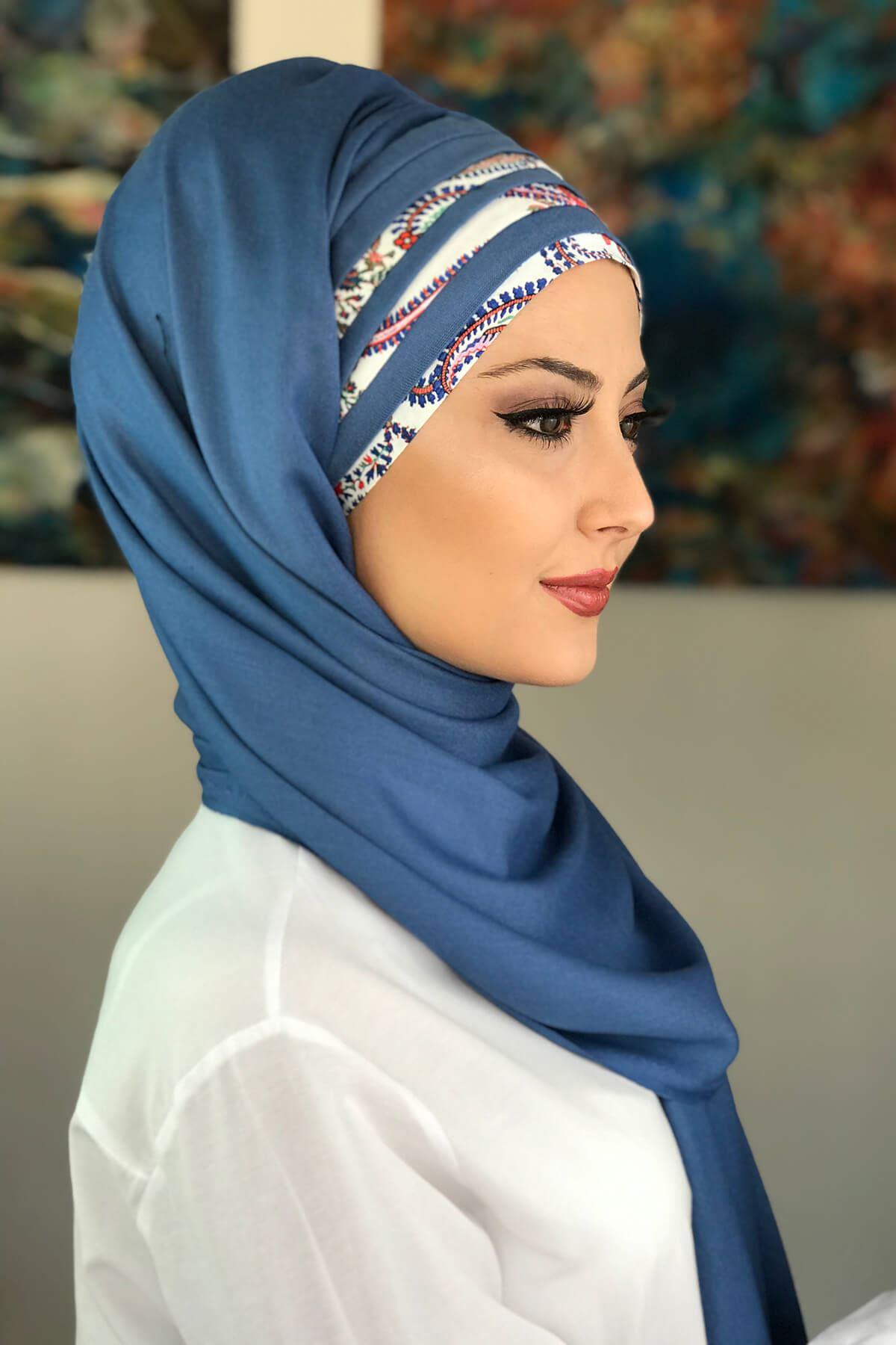 Mavi Hazır Şal