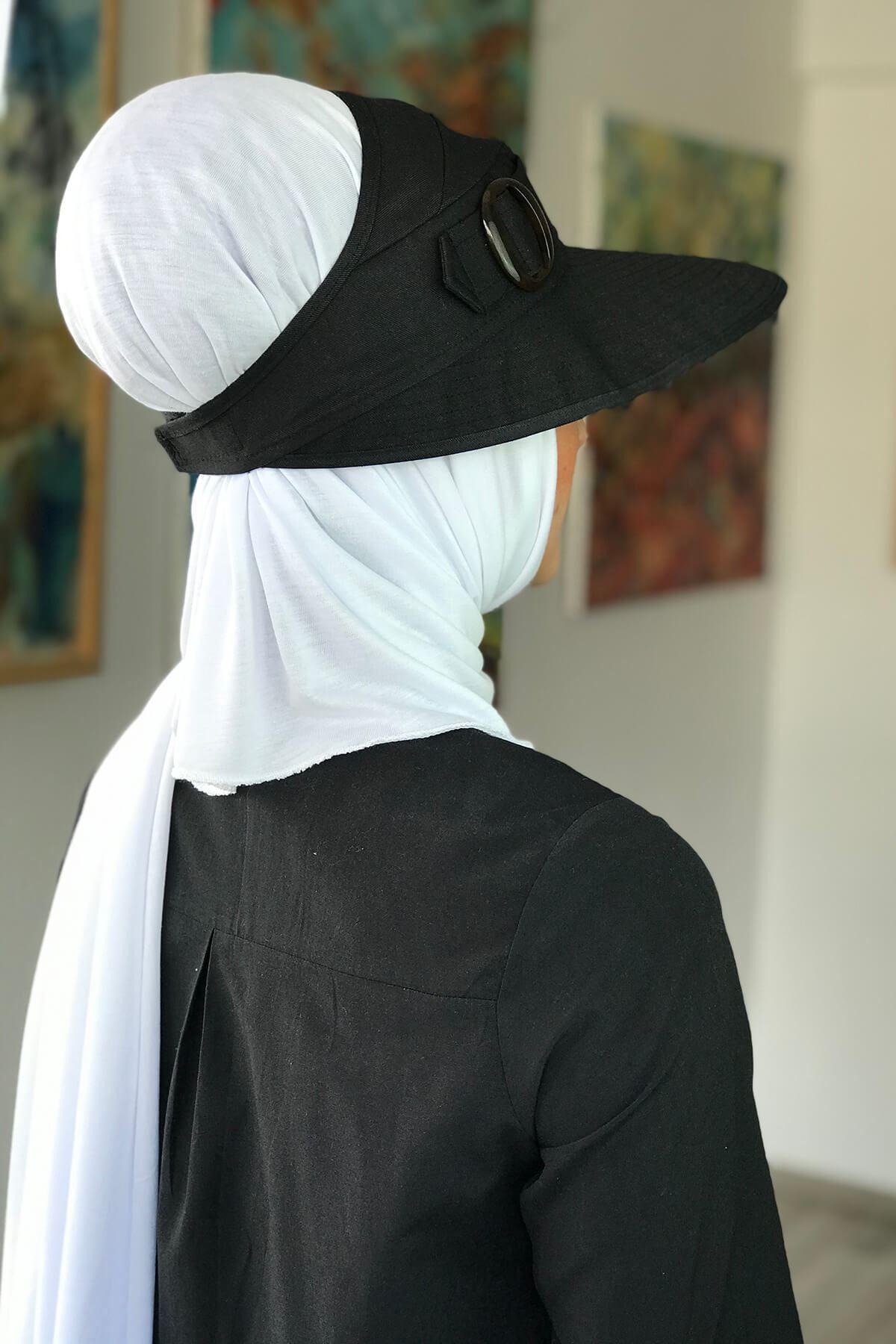 Siyah Tesettür Şapka