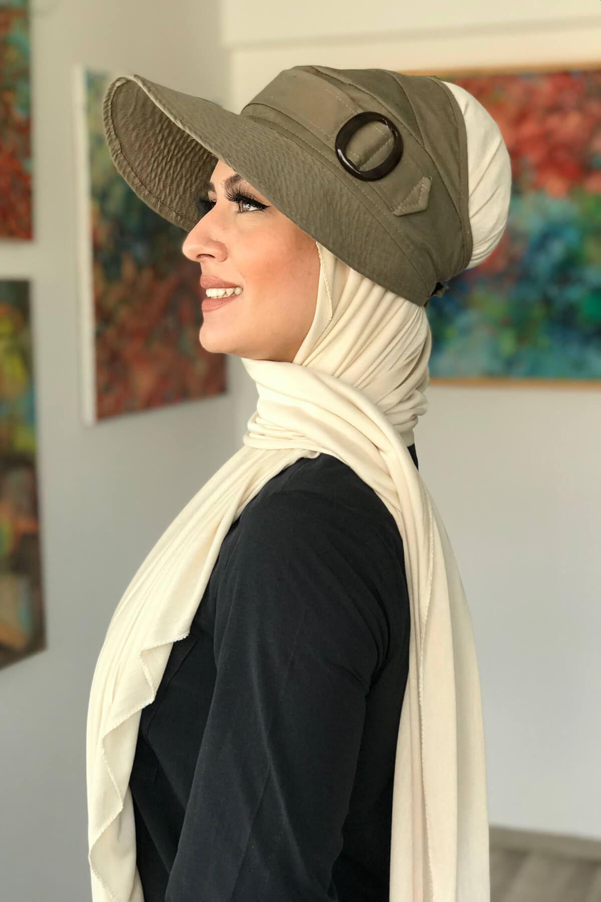 Yeşil Tesettür Şapka