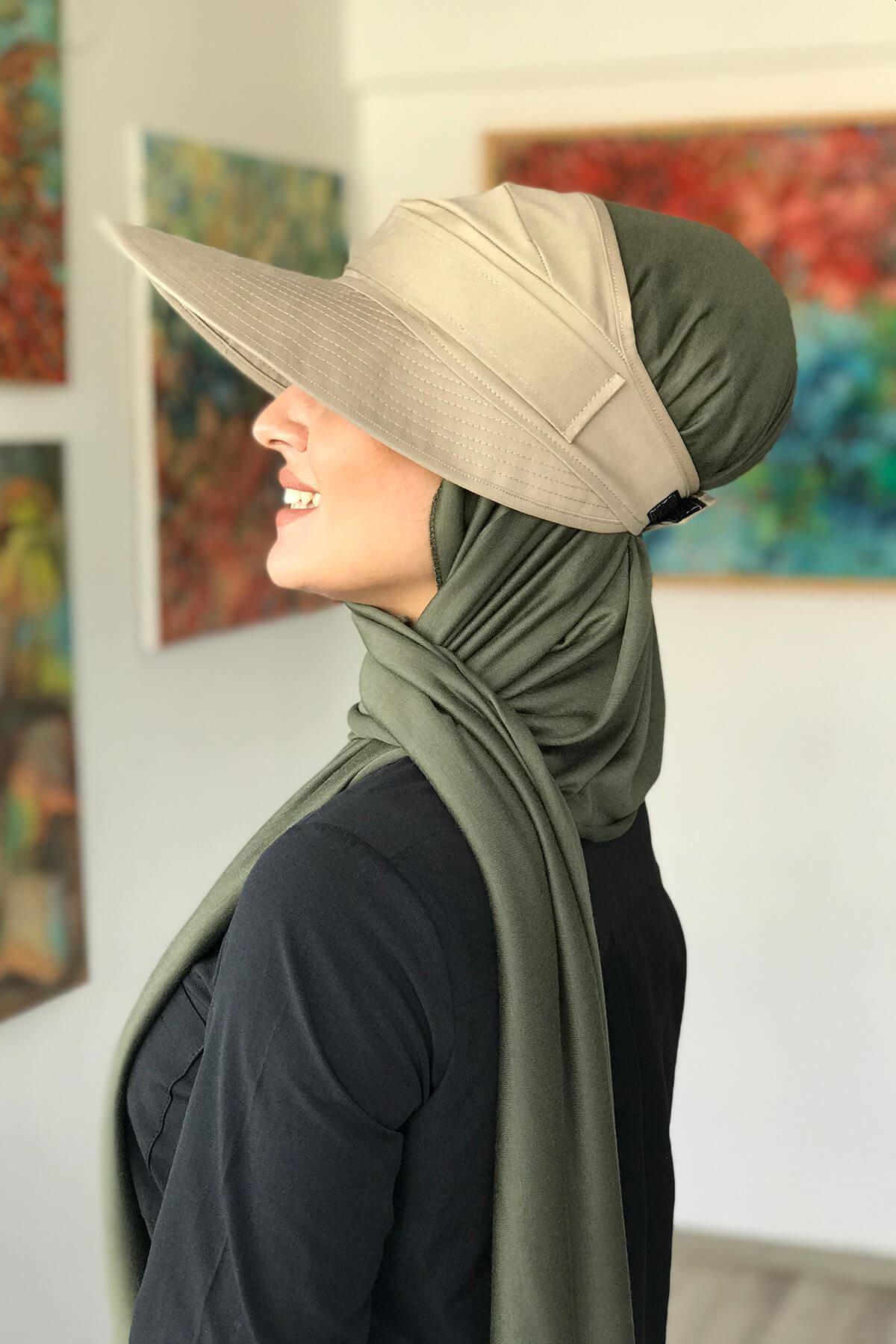 Kum Beji Spor Tesettür Şapka